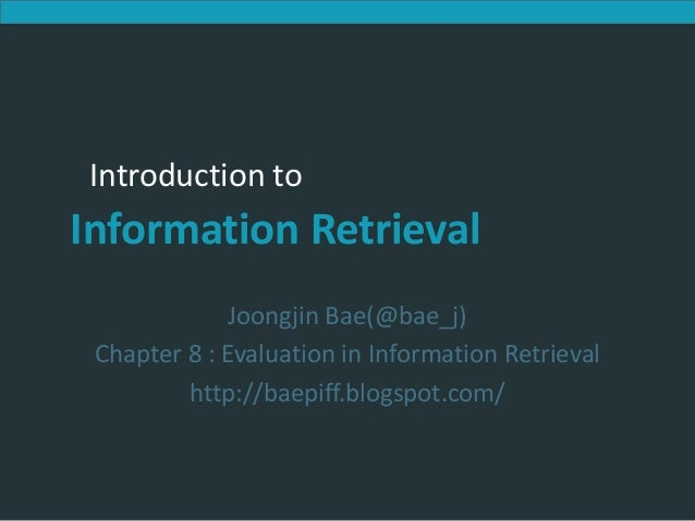Introduction to Information Retrieval             Introduction to          Information Retrieval                          ...