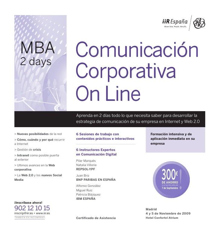 MBA                             Comunicación     2 days                                     Corporativa                   ...