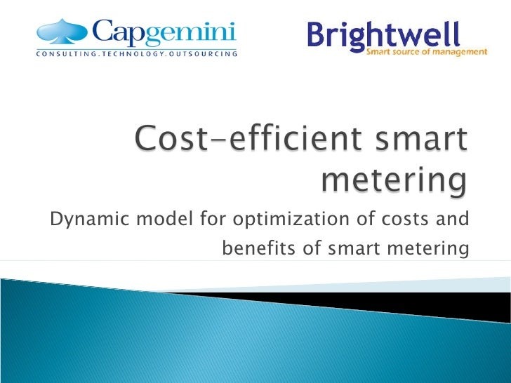 Dynamic model for optimization of costs and benefits of smart metering