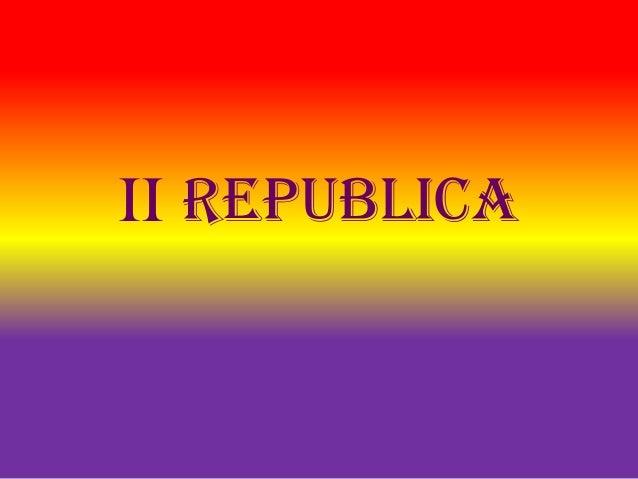 II republica