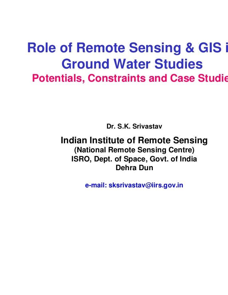 remote sensing and gis applications pdf
