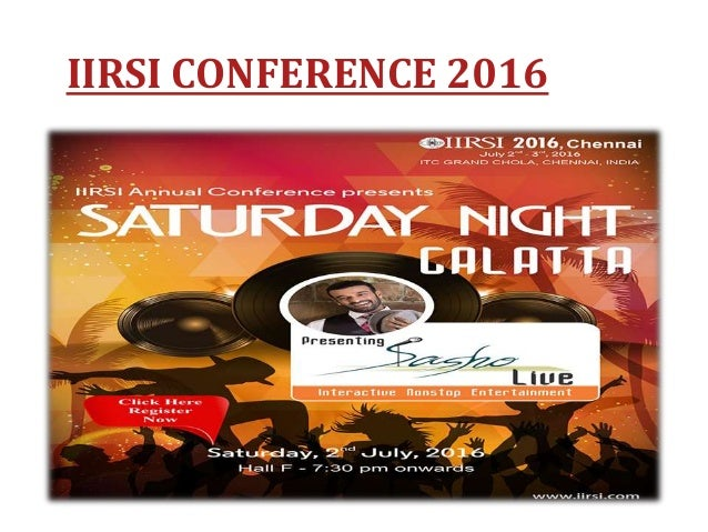 IIRSI CONFERENCE 2016