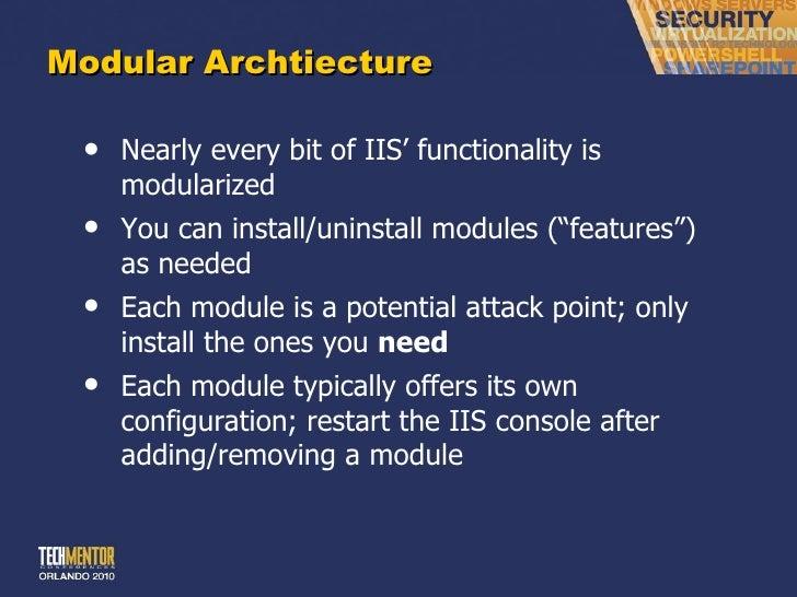 Iis implementation