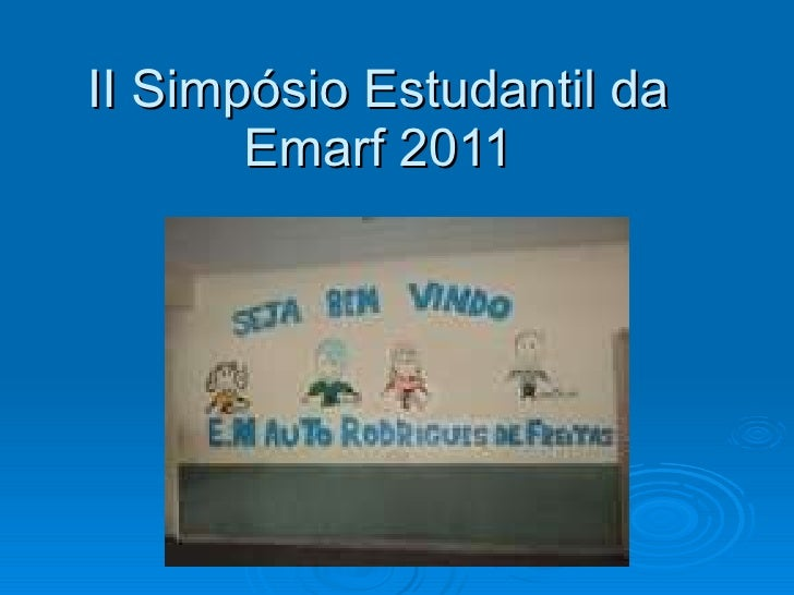II Simpósio Estudantil da Emarf 2011
