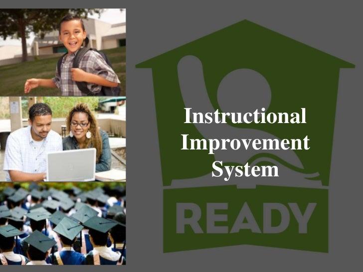 Agenda For Institute                       Instructional                       Improvement                          System