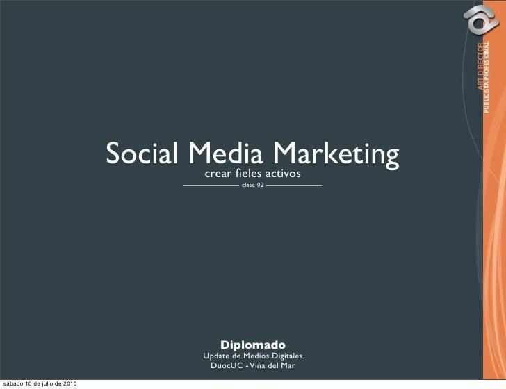 Social Media activos                                      crear fieles                                                  Mar...