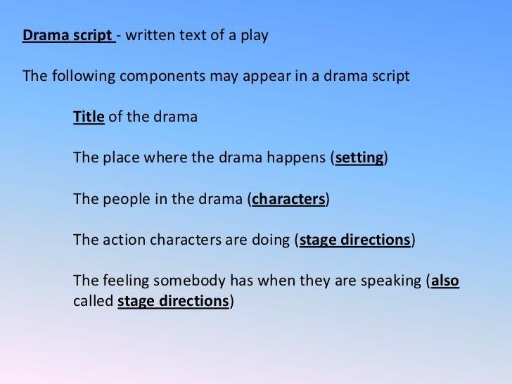 Iit ai1 components of a drama script
