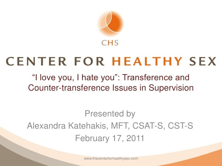 """""""I love you, I hate you"""": Transference andCounter-transference Issues in Supervision              Presented byAlexandra Ka..."""
