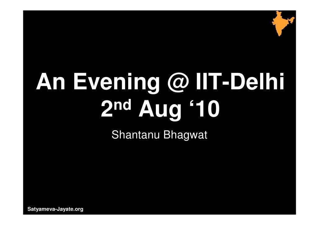 IIT Delhi and FTI Aug '10 Final