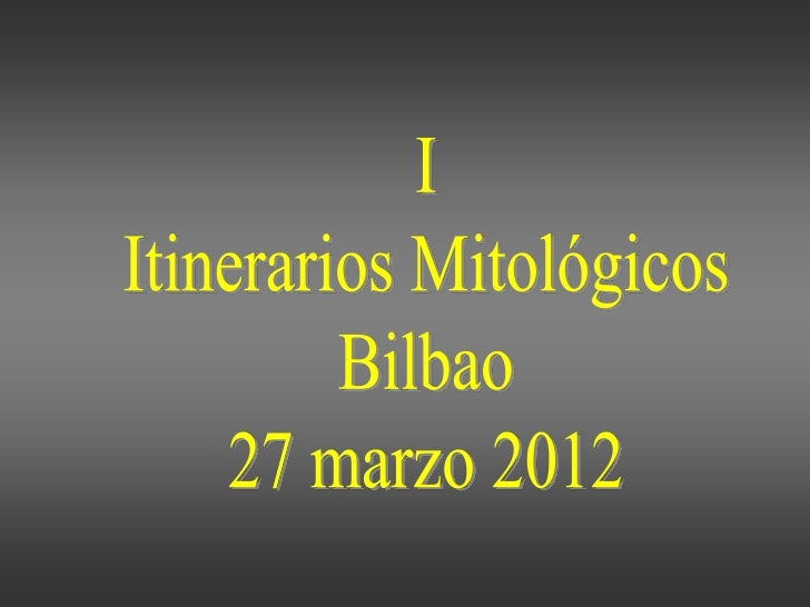 I                           itinerarios                          grecolatinos                              Bilbao         ...