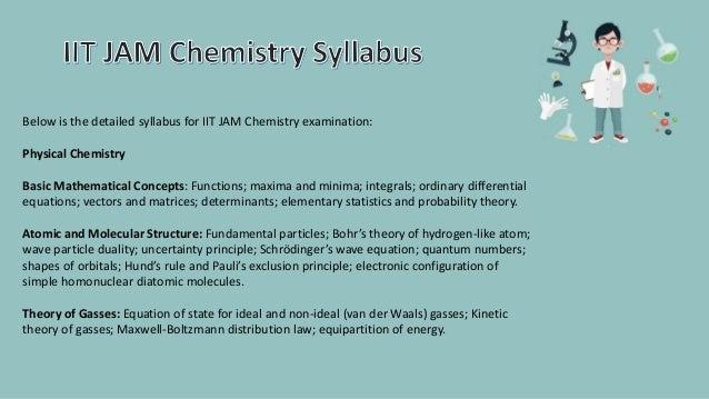 Syllabus chemistry iit pdf jam