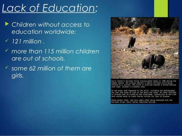 lacking education due to poverty