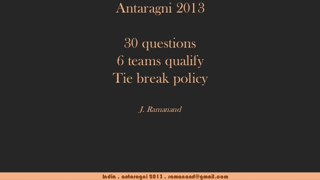 IIT Kanpur - Antaragni 2013 - India Quiz - Prelims (with