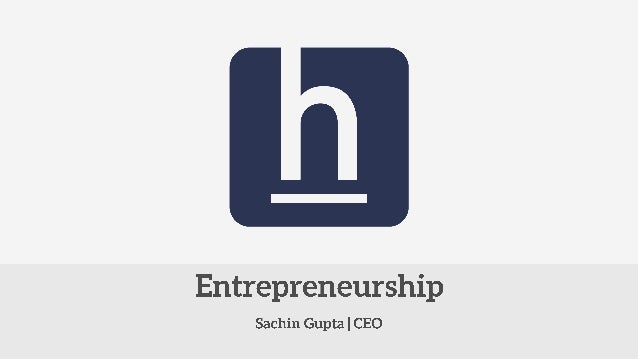 Entrepreneurship is about solving a problem (whether new or existing) in a manner that it generates value.