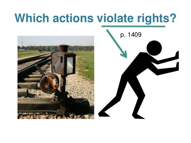 killing vs letting die trolley problem Self-sacrifice and the trolley problem  do nothing, letting five die, or (ii) throw the switch to the right, killing one, or (iii) throw the switch to the left.