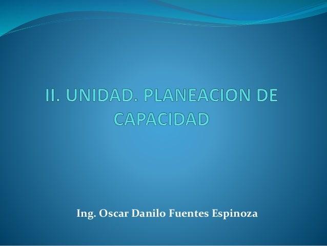 Ing. Oscar Danilo Fuentes Espinoza