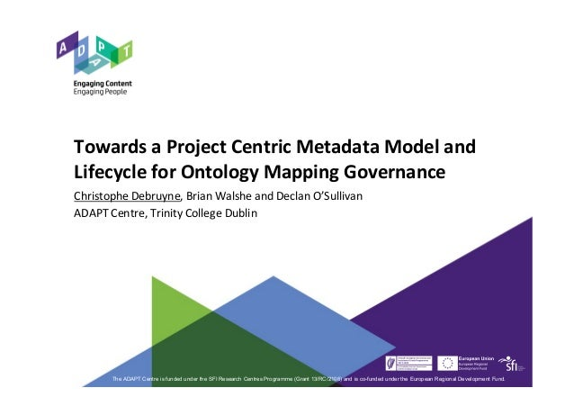 Towards a Project Centric Metadata Model and Lifecycle for