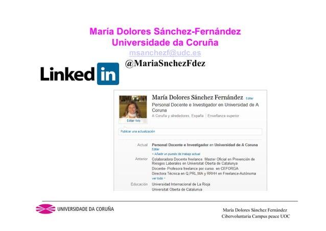Cibervoluntaria Campus peace UOCMaría Dolores Sánchez FernándezMaría Dolores Sánchez-FernándezUniversidade da Coruñamsanch...