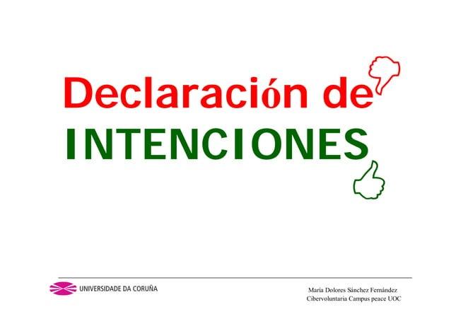 Cibervoluntaria Campus peace UOCMaría Dolores Sánchez FernándezDeclaración deINTENCIONES