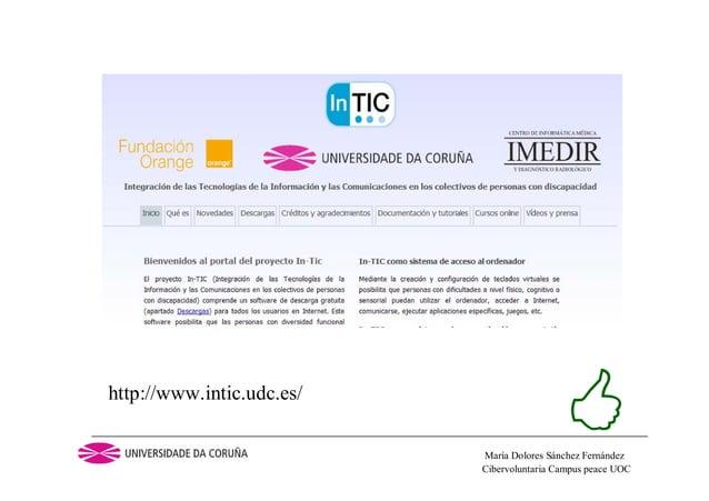 Cibervoluntaria Campus peace UOCMaría Dolores Sánchez Fernándezhttp://www.intic.udc.es/