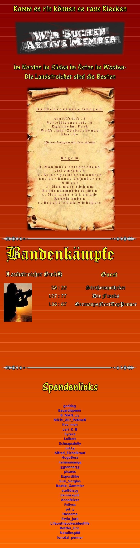 """Bandenvoraussetzungen   Angriffstufe: 6 Verteidigungstufe: 6 Eigenheim: Park Waffe: min. Zerbrochende Flasche """"Bewerb..."""