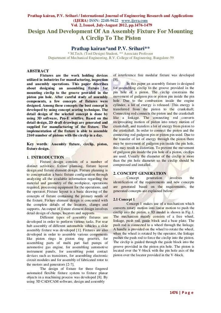 Prathap kairan, P.V. Srihari / International Journal of Engineering Research and Applications                         (IJE...