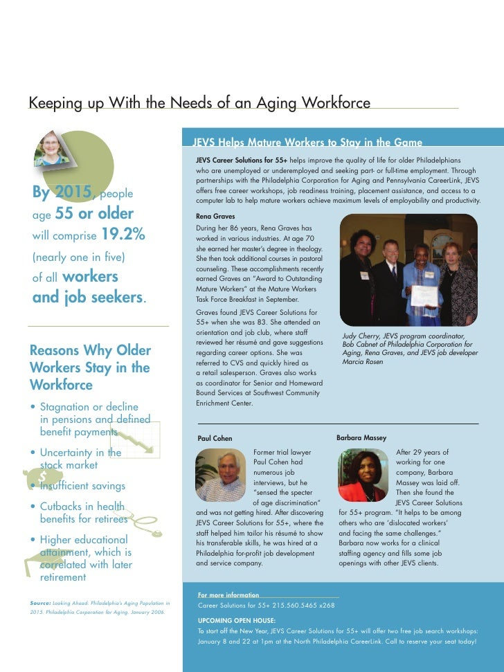 Keeping up With the Needs of an Aging Workforce                                                              JEVS Helps Ma...