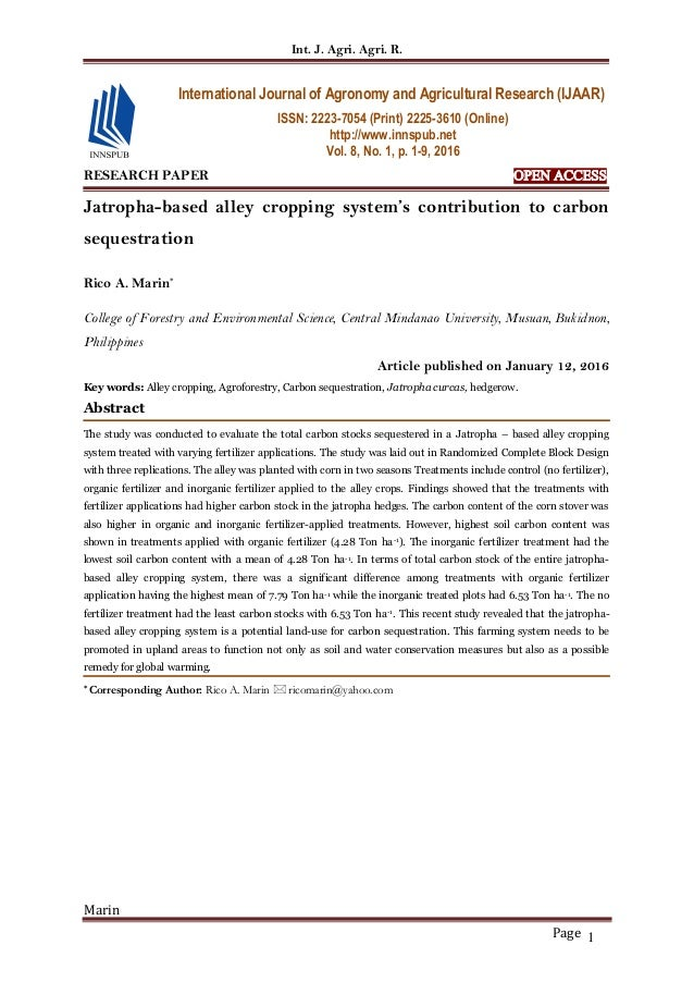 research papers on jatropha curcas