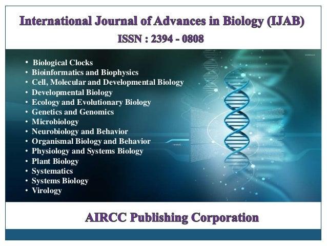 • Biological Clocks • Bioinformatics and Biophysics • Cell, Molecular and Developmental Biology • Developmental Biology • ...