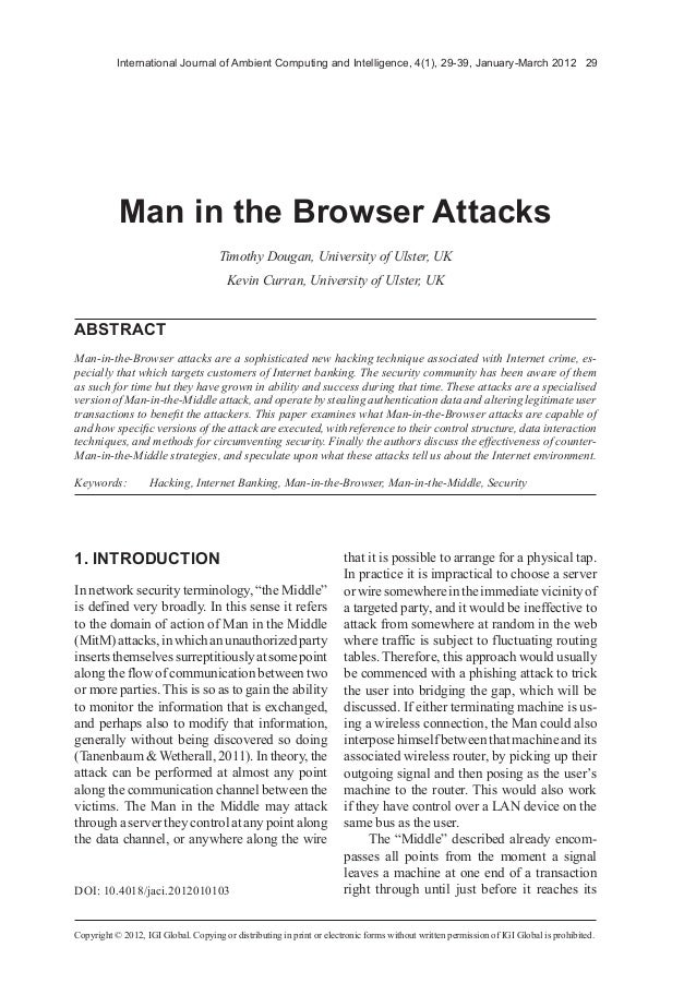 International Journal of Ambient Computing and Intelligence, 4(1), 29-39, January-March 2012 29Copyright © 2012, IGI Globa...