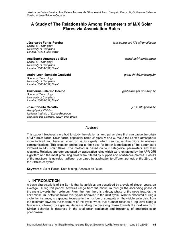 Jéssica de Farias Pereira, Ana Estela Antunes da Silva, André Leon Sampaio Gradvohl, Guilherme Palermo Coelho & José Rober...