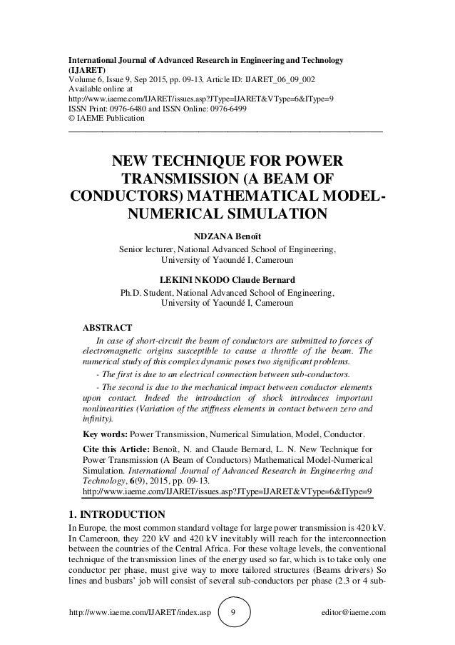 http://www.iaeme.com/IJARET/index.asp 9 editor@iaeme.com International Journal of Advanced Research in Engineering and Tec...
