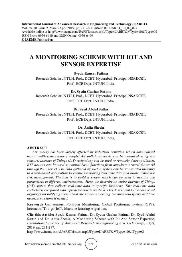 http://www.iaeme.com/IJARET/index.asp 271 editor@iaeme.com International Journal of Advanced Research in Engineering and T...