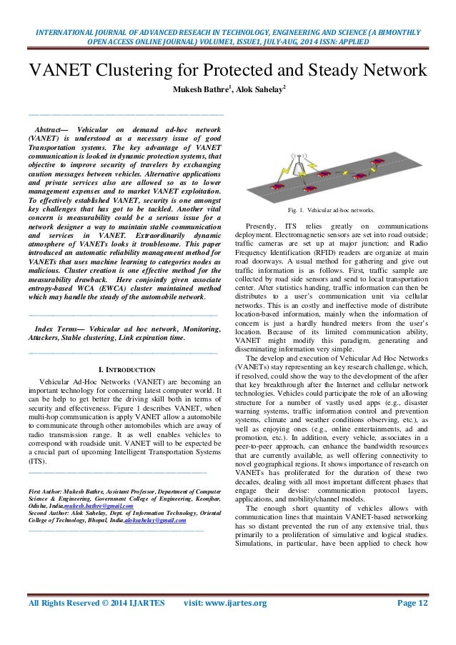 INTERNATIONAL JOURNAL OF ADVANCED RESEACH IN TECHNOLOGY, ENGINEERING AND SCIENCE (A BIMONTHLY OPEN ACCESS ONLINE JOURNAL) ...
