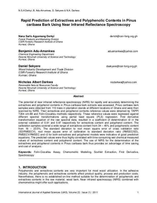 N.S.A Derkyi, B. Adu-Amankwa, D. Sekyere & N.A. Darkwa International Journal of Applied Sciences (IJAS), Volume (2) : Issu...