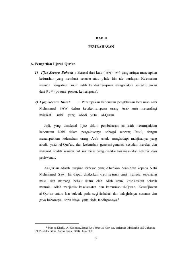 Makalah Ijazul Al Quran