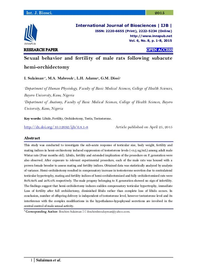 research paper on fertility An international, multidisciplinary journal dedicated to furthering research   article fertility facts, figures and future plans: an online survey of university  students.