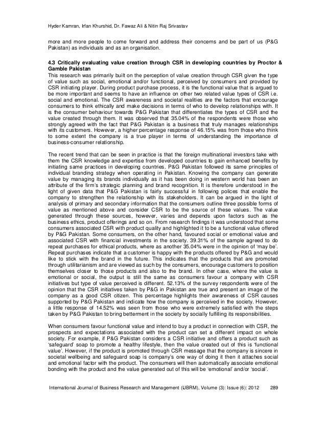 Csr case studies in pakistan