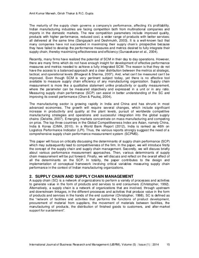 determinants of export supply chain performance This article investigates the impact of five determinants of the green supply chain practices on organizational performance in the context of pakistan manufacturing firms a sample of 218 firms was collected from the manufacturing industry the green supply chain practices were measured through five.