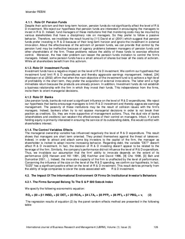 Research paper on investment strategy