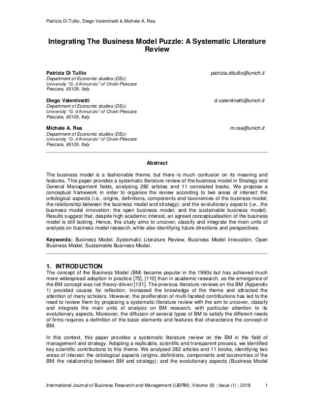 Patrizia Di Tullio, Diego Valentinetti & Michele A. Rea International Journal of Business Research and Management (IJBRM),...
