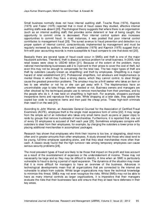 an exploratory study of internal control Summary this study examines and describes the effectiveness of internal control systems in albanian small and medium size enterprises we adopt the coso framework definition for the internal control activities and, through a questionnaire, carried out a study of 86 small and medium enterprises operating primarily in the.