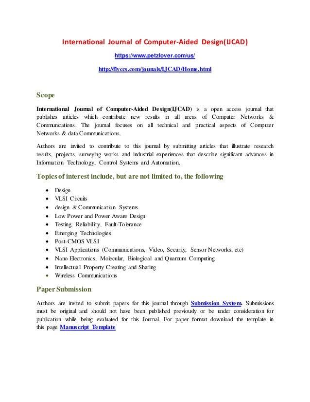 International Journal of Computer-Aided Design(IJCAD)