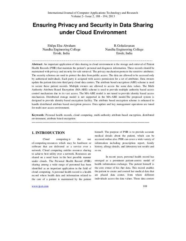 International Journal of Computer Applications Technology and ResearchVolume 2– Issue 2, 188 - 194, 2013www.ijcat.com 188E...