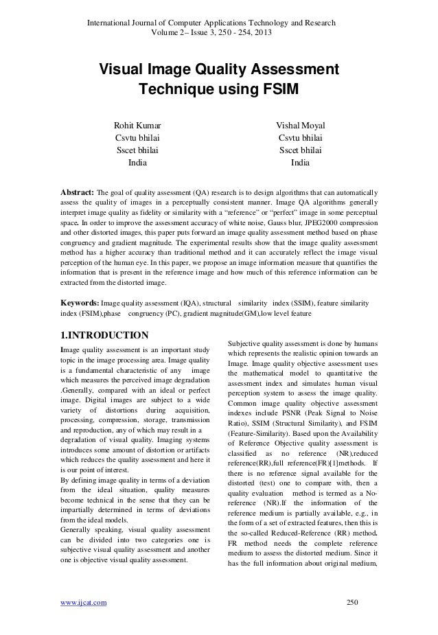 International Journal of Computer Applications Technology and ResearchVolume 2– Issue 3, 250 - 254, 2013www.ijcat.com 250V...