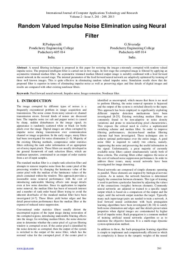 International Journal of Computer Applications Technology and ResearchVolume 2– Issue 3, 261 - 269, 2013www.ijcat.com 261R...