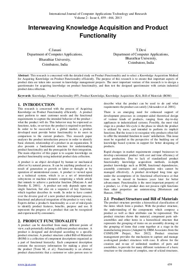 International Journal of Computer Applications Technology and Research Volume 2– Issue 4, 459 - 464, 2013 www.ijcat.com 45...