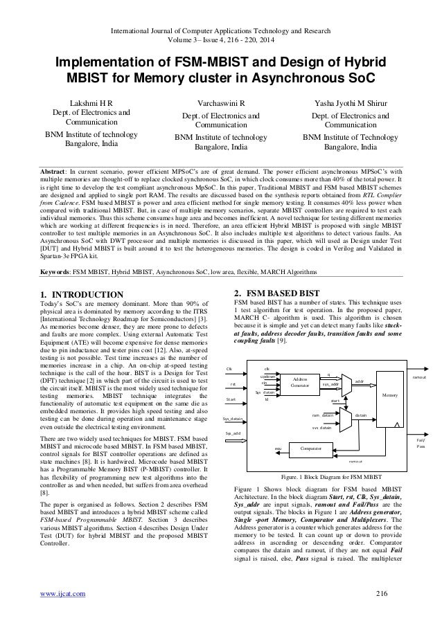 International Journal of Computer Applications Technology and Research Volume 3– Issue 4, 216 - 220, 2014 www.ijcat.com 21...