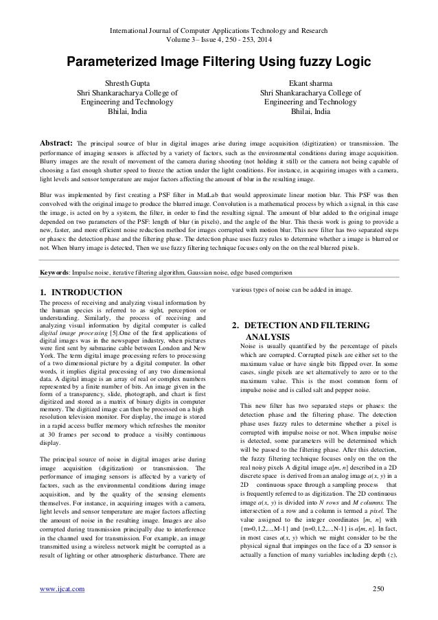International Journal of Computer Applications Technology and Research Volume 3– Issue 4, 250 - 253, 2014 www.ijcat.com 25...