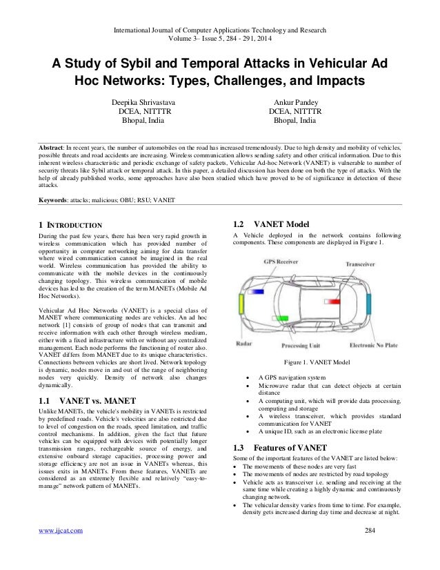 International Journal of Computer Applications Technology and Research Volume 3– Issue 5, 284 - 291, 2014 www.ijcat.com 28...